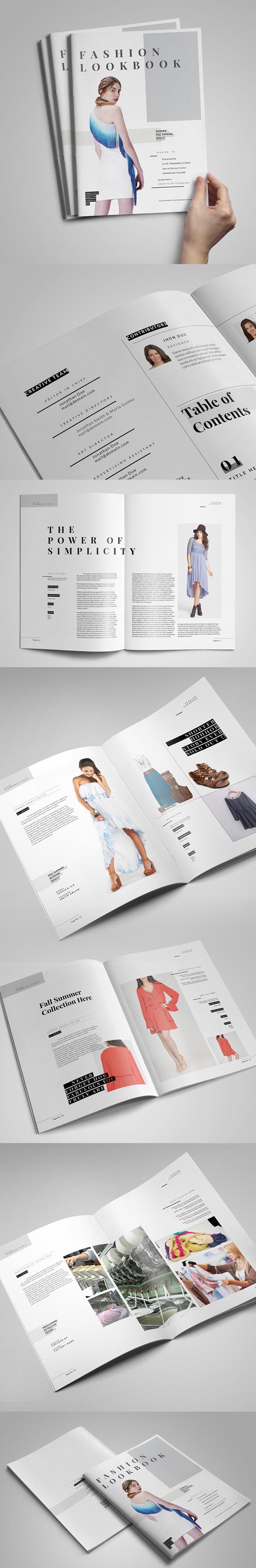 上海画册设计公司创意画册-最小的时尚外观杂志/目录设计模板
