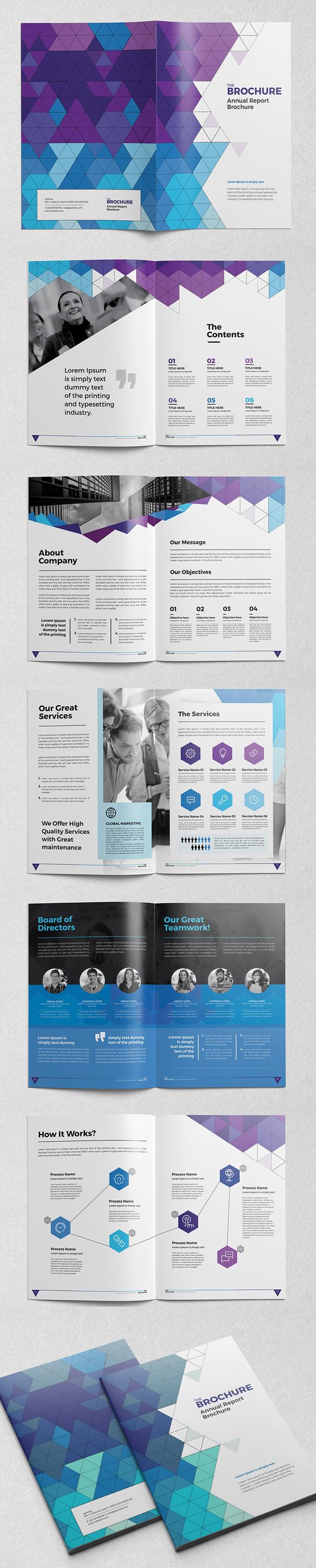 上海画册设计公司创意画册-InDesign小册子/目录设计模板