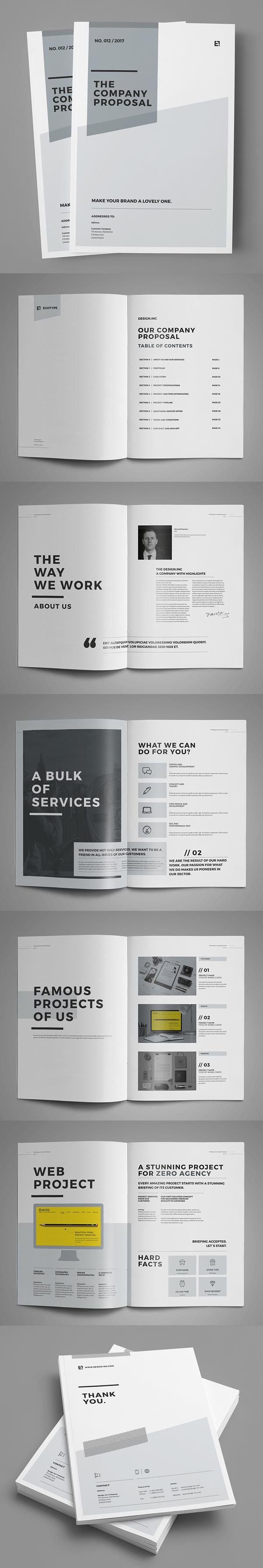 上海画册设计公司创意画册-最低和专业提案宣传册设计模板(36页)