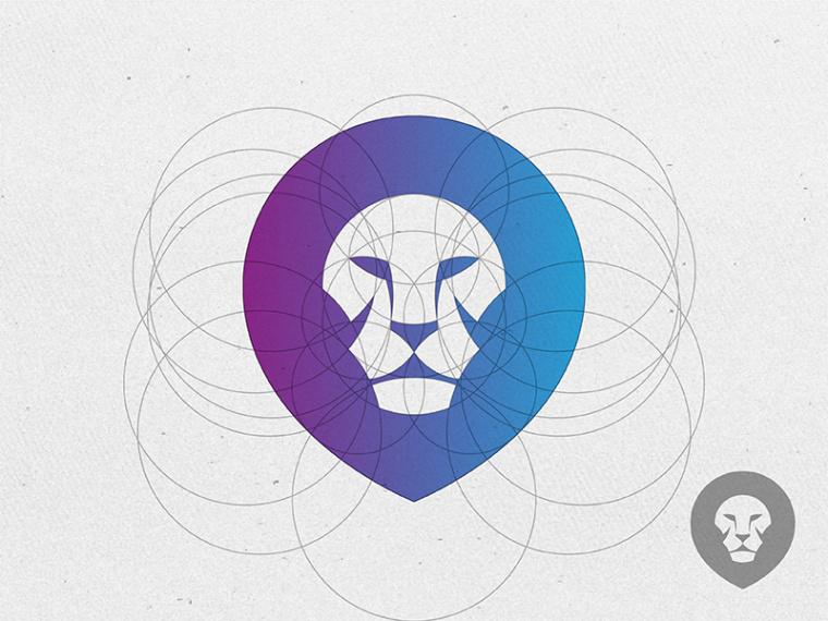 狮子logo标准化制图设计-50个让你灵思泉涌的炫酷logo设计-上海logo设计欣赏