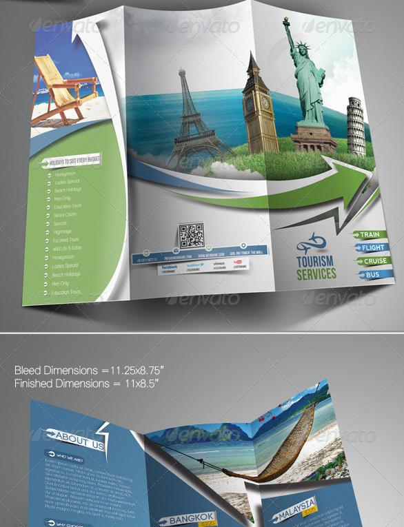 上海画册设计公司分享40+最佳旅游宣传手册设计模板-旅行旅行三折页小册子模版设计