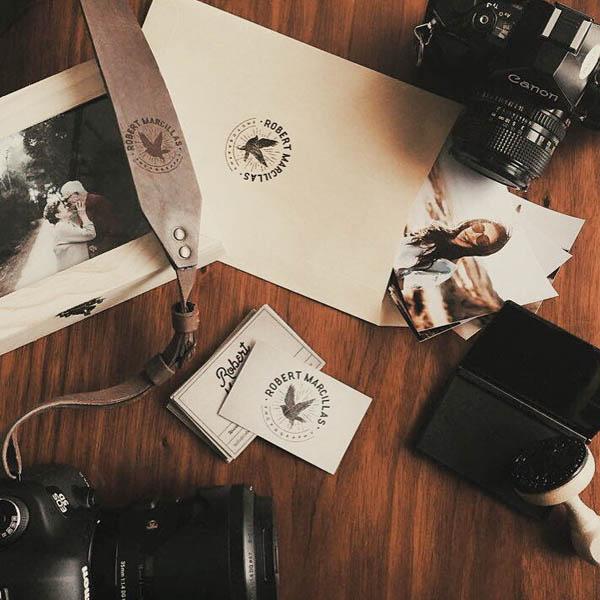 罗伯特marcillas摄影机构品牌Logo设计与视觉识别VI设计-上海VI设计公司