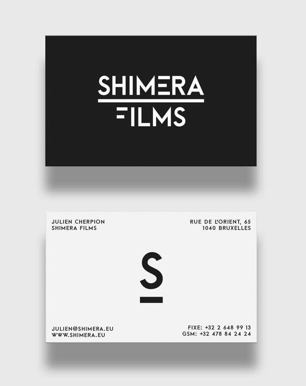 Shimera摄影机构logo设计VI视觉识别设计-上海VI设计公司