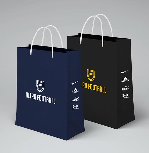 澳大利亚ACRD超级足球运动体育品牌logo设计与视觉识别VI设计-手提袋设计-上海VI设计公司