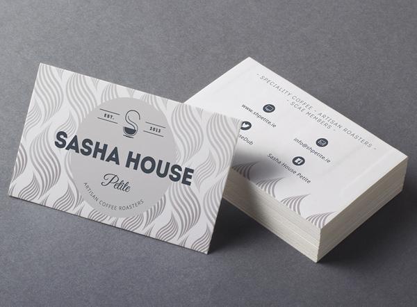 SASHA HOUSE 咖啡馆品牌重塑设计logo设计-名片设计-上海logo设计公司