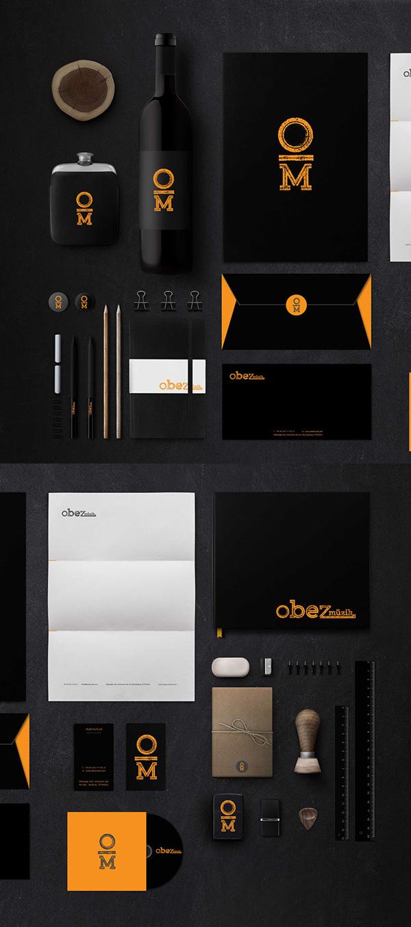 Obez iOS应用程序logo设计和视觉识别品牌VI设计-上海VI设计公司