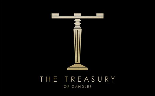 新西兰高端奢侈蜡烛品牌T字母烫金金箔logo设计-上海logo设计公司