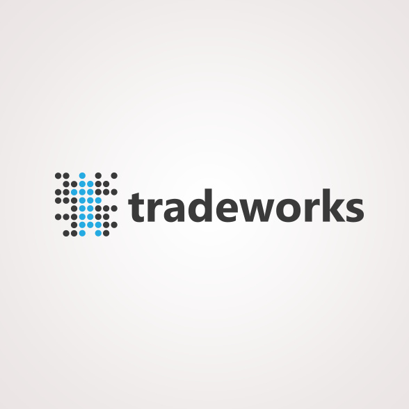 美丽的几何形状金融logo设计-上海logo设计公司