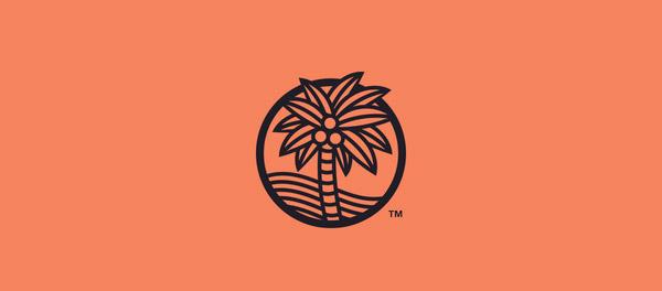 棕榈树概念线条图案logo-上海logo设计公司-上海品牌设计公司