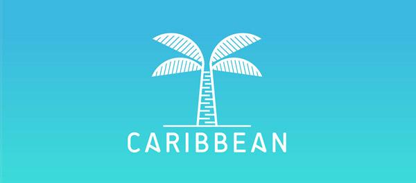 加勒比海棕榈树logo-上海logo设计公司-上海品牌设计公司