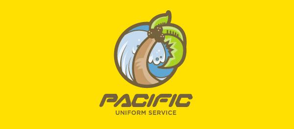 太平洋统一服务棕榈树logo-上海logo设计公司-上海品牌设计公司