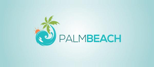 棕榈滩棕榈树旅游logo-上海logo设计公司-上海品牌设计公司