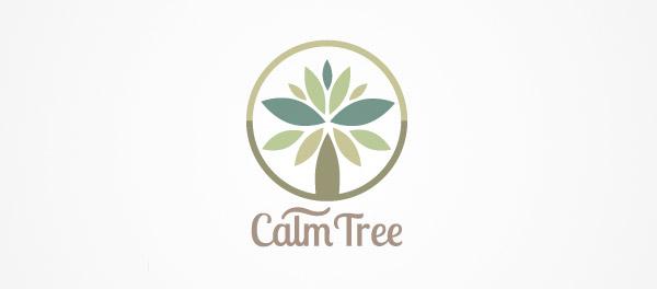 平静的树矢量图形棕榈树logo-上海logo设计公司-上海品牌设计公司
