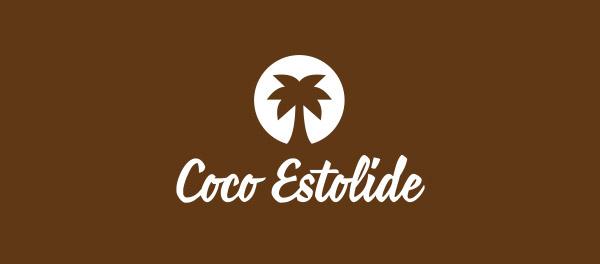 可可Estolide棕榈树咖啡logo-上海logo设计公司-上海品牌设计公司