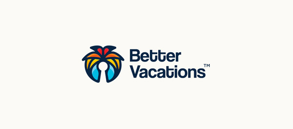 Better Vacations 完美的假期度假棕榈树logo-上海logo设计公司-上海品牌设计公司