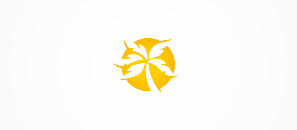 棕榈树负空间logo-上海logo设计公司-上海品牌设计公司