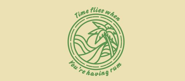 时光飞逝棕榈树logo-上海logo设计公司-上海品牌设计公司