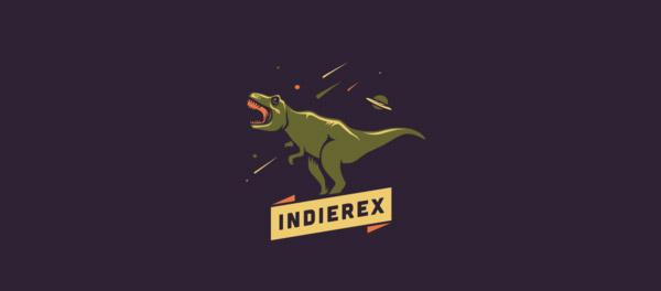 IndieRex 恐龙标志设计-上海标志设计公司