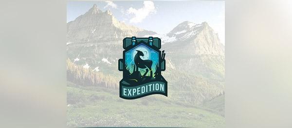 远征山羊图腾风格标志设计-上海标志设计公司