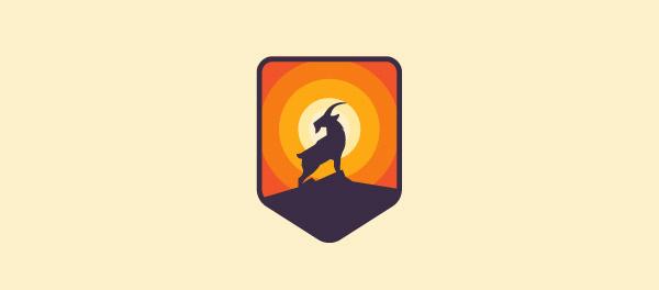 纯正的山羊徽章标志设计-上海标志设计公司