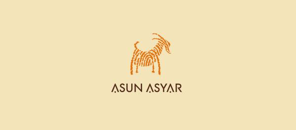 Asun Asyar指纹山羊标志设计-上海标志设计公司