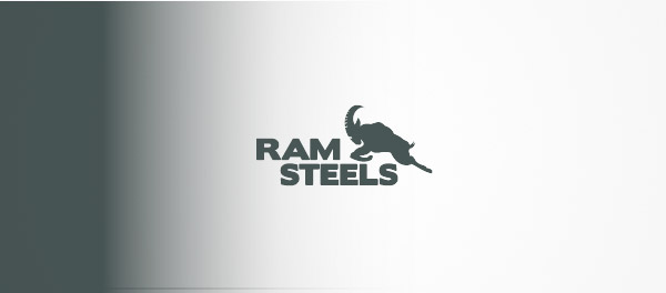 拉姆钢铁公司山羊标志设计-上海标志设计公司