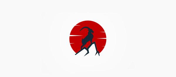 山羊太阳标志设计-上海标志设计公司