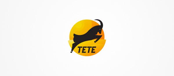 Tete跳跃的山羊标志设计-上海标志设计公司