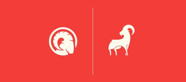 博克山羊标志设计-上海标志设计公司