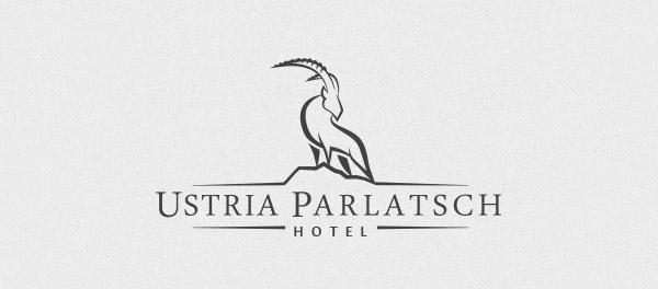 酒店Ustria Parlatsch山羊标志设计-上海标志设计公司