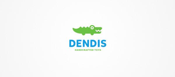 丹迪斯鳄鱼标志设计-上海标志设计公司