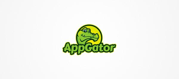 AppGator应用程序鳄鱼标志设计-上海标志设计公司