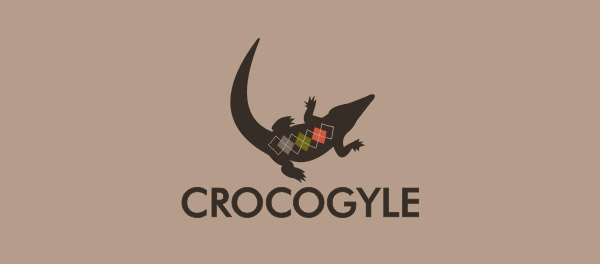Crocogyle鳄鱼标志设计-上海标志设计公司