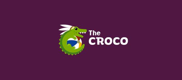 The Croco鳄鱼标志设计-上海标志设计公司