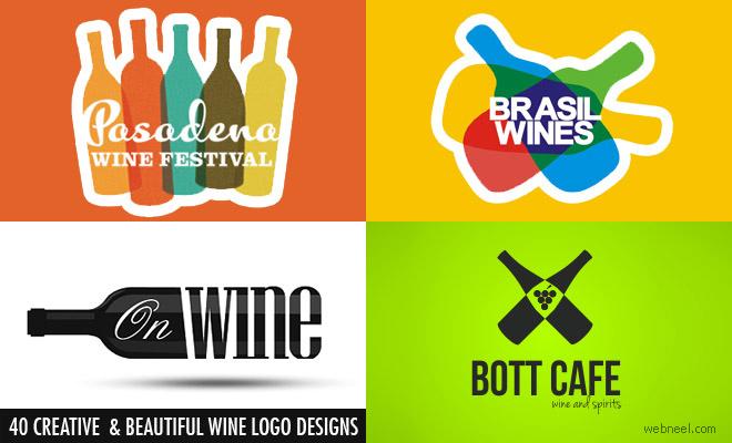 40个创意和美丽的葡萄酒标志为您设计灵感
