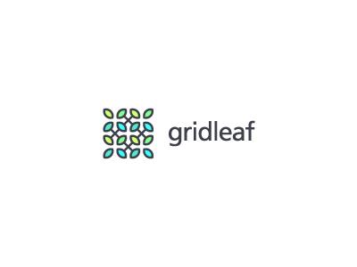 Gridleaf银行Logo设计-上海标志设计公司
