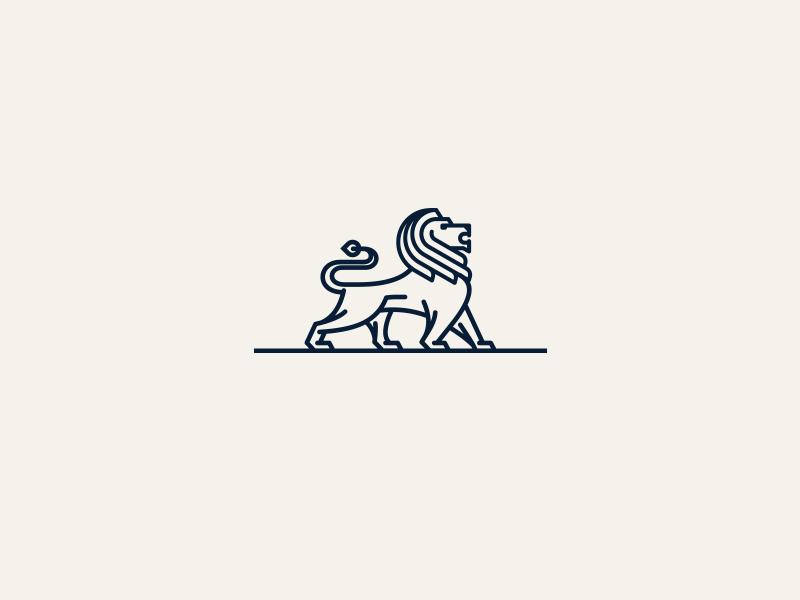 Dusan Sevarika创作的MagnaTrust Lion银行Logo设计-上海标志设计公司