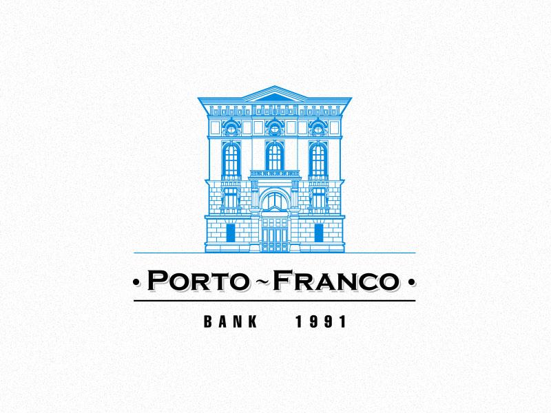 305DSN为Porto-Franco创作的银行Logo设计-上海标志设计公司