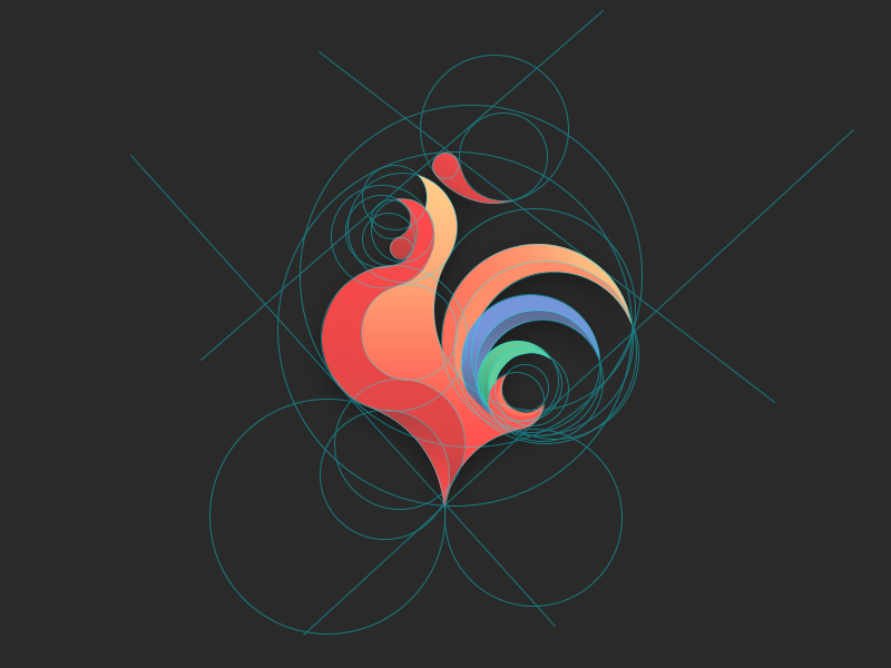 洪凡银行公鸡标志设计-上海标志设计公司