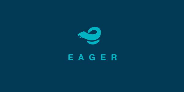 EAGER银行Logo设计-上海标志设计公司