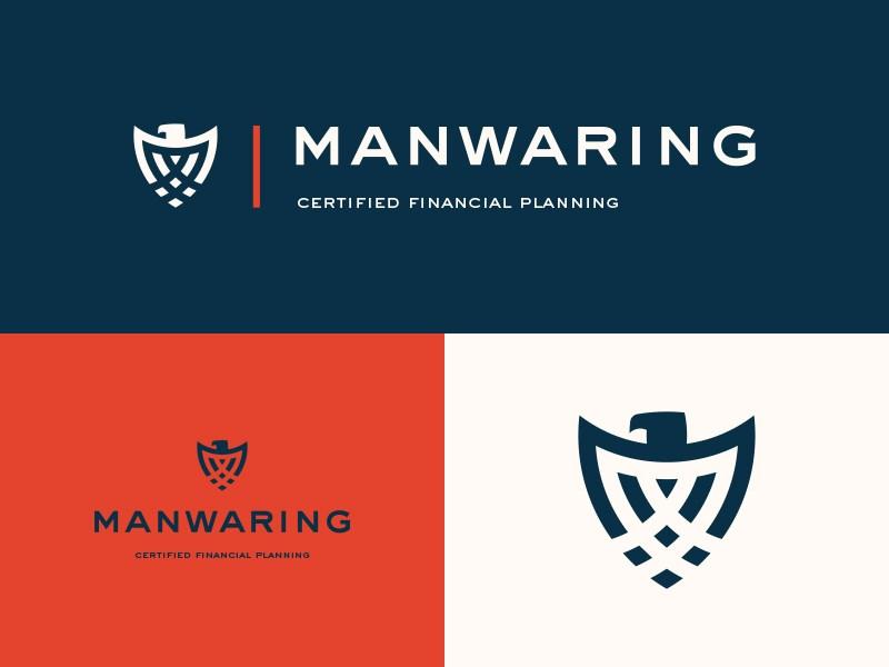 M.Aswad Mehtab为Manwaring创作的金融银行Logo-上海标志设计公司