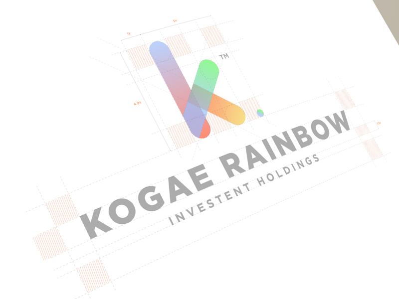 Modisana为Kogae Rainbow创作的银行Logo设计-上海标志设计公司