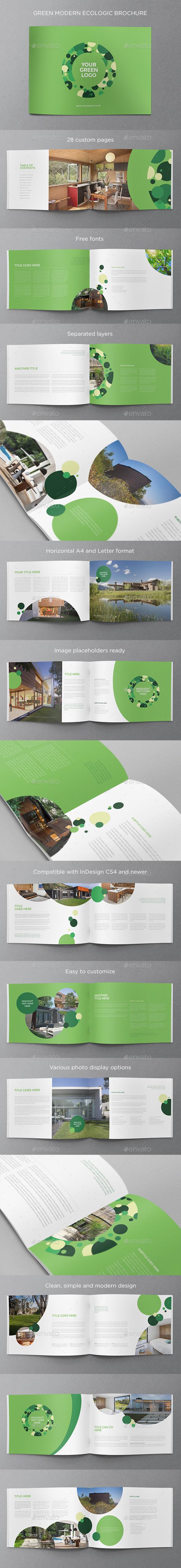 上海画册设计分享一个绿色现代生态的宣传手册设计佳作模板(24P)