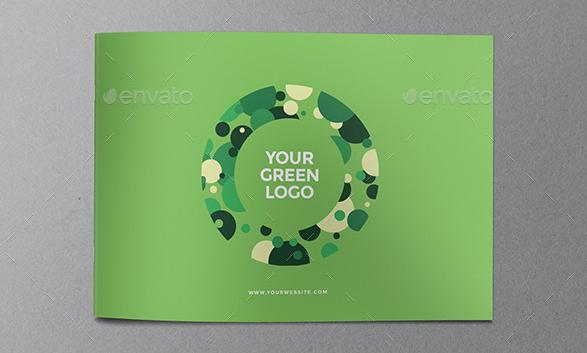 上海画册设计分享一个绿色现代生态的宣传手册设计佳作模板