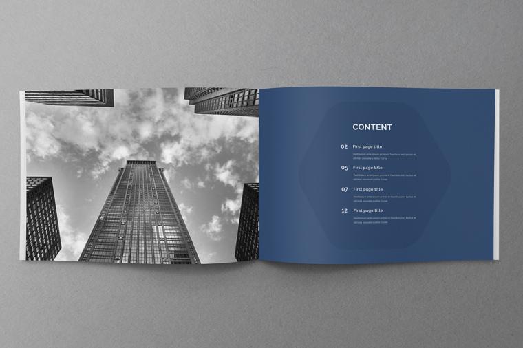 商务风格品牌蓝色公司简介手册设计上海画册设计公司