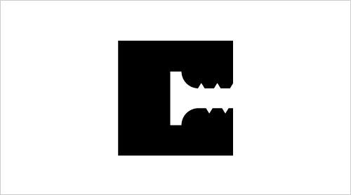 """字母""""C""""创意Logo设计:考特尼建筑-上海Logo设计公司-上海品牌策划公司"""