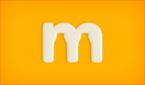 """字母""""M""""创意Logo设计:牛奶标志-上海Logo设计公司,上海品牌策划公司"""