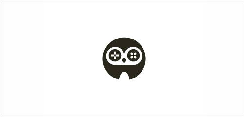 "字母""O""创意Logo设计:夜游戏猫头翁Logo设计-上海Logo设计公司,上海品牌策划公司"