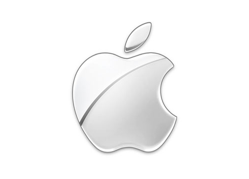 现代的单色苹果logo