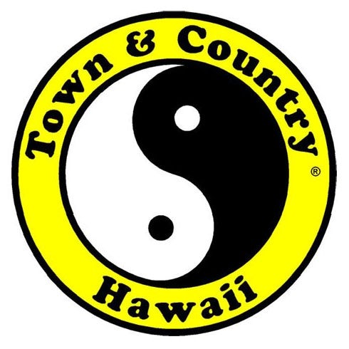 城市和乡村冲浪商店logo